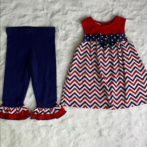 Bonnie Jean Matching Set Dress with Leggings 3T/4T